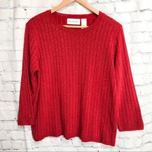 ALFRED DUNNER sparkly red sweater